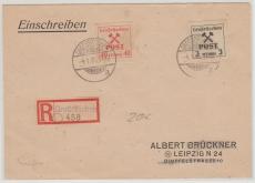 Großräschen 31 + 41 als MiF auf E.- Brief nach Leipzig