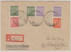 W Zd 14, S Zd 4 + S Zd 5, als MiF auf Einschreiben- Fernbrief von Naunhof nach Schönebeck, gepr. Ströh BPP