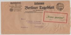 Infla / Dt. Lokalausgaben, 1923, Berlin C 2, Mi.- Nr.: 5, als EF auf Auslandsstreifband von Berlin nach Kopenhagen (DK)