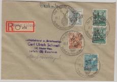 37 Ribnitz, 173 u.a. auf E.- Fernbrief von Ribnitz nach Rostock