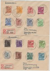 20 Halberstadt, kompletter Satz (ohne 179VIII) auf 2 E. Briefen von Halberstadt nach Wasserleben