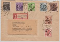 27 Borna, 175 V, u.a, auf E.- Fernbrief