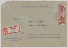 41 Auerbach, A 179X u.a., auf E.- Fernbrief nach Frankenberg