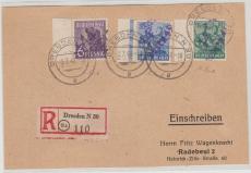 14 Dresden 42..., 172II u.a. auf E.- Fernpostkarte von Dresden nach Radebeul, Sign. / gepr. Rank