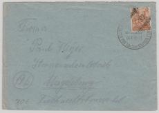 37 Neubrandenburg, 174 VIII, als EF auf Fernbrief nach Magdeburg