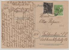 41 Reichenbach / Neumark, 166X + 169 X, als MiF auf Fernpostkarte nach Falkenstein