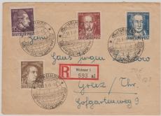 234- 37 als MiF auf E. Fernbrief, von Weimar nach Greiz, entwertet mit seltenem Weltkugelstempel!