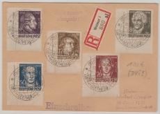 234- 38 (je mit DV´s!) als MiF auf E. Fernbrief, von Weimar nach Berlin, entwertet mit seltenem Weltkugelstempel!