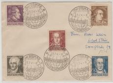 234- 38 als MiF auf Satz- Fernbrief, von Weimar nach Greiz, entwertet mit seltenem Weltkugelstempel!