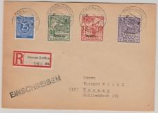 Dessau I- III, + ZF auf E.- Satzbrief