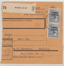 196 (2x) als reine MeF auf Paketkarte, sehr selten!