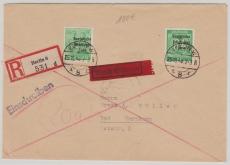 197 + 211 Portostufengleiche MiF auf Eilboten- Einschreiben- Fernbrief von Berlin nach Bad Harzburg, sehr selten!