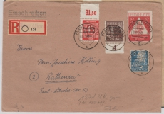 187 d u.a. in MiF auf portogerechtem E.- Fernbrief von Plaue nach Rathenow, Befund Paul BPP e+e
