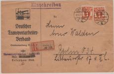 125 MeF, auf E.- Fernbrief nach Berlin