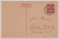 30 Pfg.- Überdruck- Antwort- GS, auf 10 Pfg. Germania - Urkarte, gelaufen (?)
