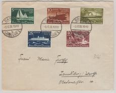 284- 88 als reine MiF auf Satz- Fernbrief von Danzig nach Landsberg
