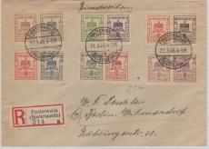 Finsterwalde 1- 12 auf Satz- E. Brief