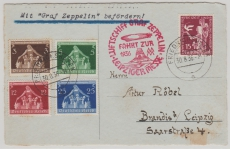 DR 565- 68, u.a., zur Fahrt zur Leipziger Messe 1936, auf Postkarte nach Leipzig