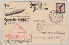 DR 382, als EF auf Postkarte zur Ägyptenfahrt 1931, nach Berlin
