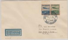 DR 606- 7, als MiF auf Brief zur 4 Nordamerikafahrt 1936, nach New York