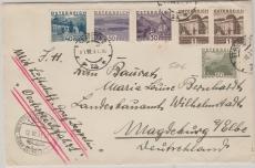 Österreich div., Brief zur Österreichfahrt 1931, von St. Pölten (A) nach Magdeburg