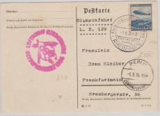 DR 606 als EF auf PK zur Olympiafahrt 1936,  von FF/M via Berlin nach FF/M
