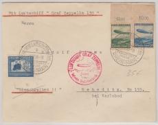 DR 606- 07 u.a. auf  Brief zur Sudetenfahrt 1938, von FF/M. (via Reichenberg, mit Transitstempel) nach Weheditz