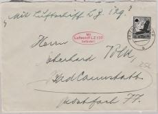 DR 537 als EF auf Brief Per L.Z. 129 nach Bad Kannstatt