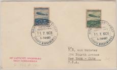 DR 606- 7, in Satz- MiF auf Brief zur 5. Nordamerikafahrt nach New York