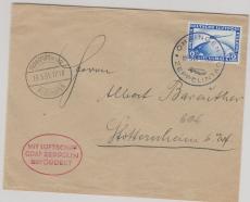 DR 424 als EF auf Brief zum Zeppelintag in Öringen nach Stottenheim, via FF/M.