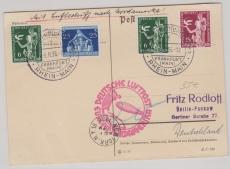 DR 620 u.a als MiF auf Postkarte nach New York und von da nach Berlin