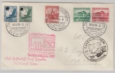 DR 435 u.a. auf Zeppelinbrief zur Deutschlandfahrt 1939 (Essen),  von FF/M. nach Lorch