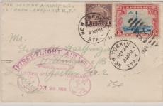 USA, diverse, Brief zum Rückflug der 1. Amerikafahrt 1928, von New York nach Villingen, rs. mit Transitstempel