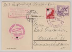 DR 616 u.a., auf Brief zur Deutschlandfahrt 1937, via Köln nach Hamburg