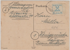 Großräschen Nr. 34 als EF auf Bedarfskarte nach Königswusterhausen