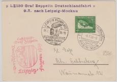 DR 670, als EF auf Karte zur Deutschlandfahrt 1939 nach Leipzig, von FF/M. via Leipzig nach Berlin