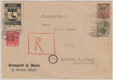 Storkow Nrn.: 2, 4, 8 + 14 zus. auf E.- Brief nach Sömmerda