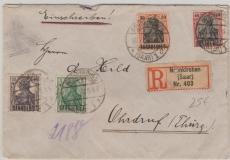37 u.a. in MiF auf E.- Brief von Neunkirchen nach Ordruf