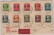 18- 26 als MiF auf E.- Eilboten- Fernbrief von Hassel nach Einoed (je Pfalz)