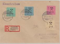 Großräschen Nrn.: 15, 16, 17 + 21 als MiF auf E.- Brief
