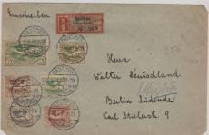 Oberschlesien, Nrn.: 24 u.a. auf Einschreiben- Fernbrief von Beuthen nach Berlin, gepr Gruber BPP