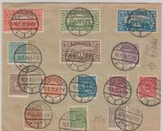 Schleswig, Nrn.: 1- 14 auf Umschlag, nicht gelaufen