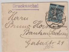 Nr.: 69 als EF auf Drucksachen- Streifband von Memel nach Bautzen
