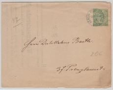 Nr.: 2 als EF auf Drucksachen- Fernbrief von Berlin nach Prenzlau