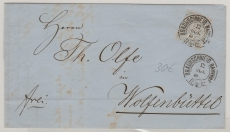 Nr. 17 als EF auf Brief von Braunschweig nach Wolfenbüttel, mit schönem Braunschweiger Stempel!