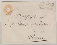 GS- Umschlag U1B2 verwendet als Fernbrief von Berlin nach Bonn