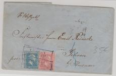 Nrn.: 10 + 11, verwendet als MiF auf Fernbrief von Berlin nach Gehren