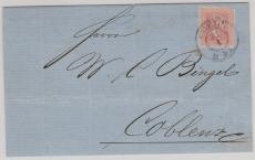 Nr.: 10 als EF auf Brief von Cöln nach Coblenz