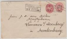 1 Sgr.- GS- Umschlag, + Nr. 16 als Zusatzfrankatur, als Brief von Seehausen nach Damerow, gepr. Fläming BPP