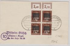 Netzschkau- Reichenbach Nr.: 2 im OR- 4er- Block auf Brief